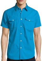 Jf J.Ferrar JF Short-Sleeve Slim Fit Button-Front Shirt