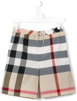 Burberry new classic check swim shorts - kids - Cotton/Polyamide - 14 yrs