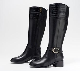 Marc Fisher Medium Calf Leather Tall Shaft Boots - Hailin