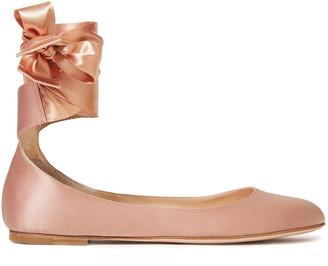 Gianvito Rossi Odette Satin Ballet Flats