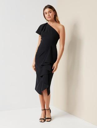 Forever New Bianca One-Shoulder Midi Dress - Black - 4
