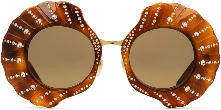 Gucci Limited Edition round sunglasses with crystals