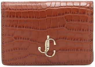 Jimmy Choo Exclusive to Mytheresa Myah croc-effect leather wallet