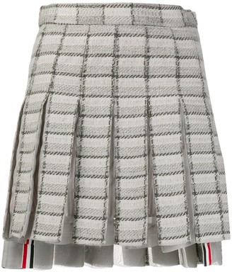 Thom Browne Pleated Checked Skirt