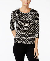 Charter Club Petite Iconic-Print Top, Only at Macy's