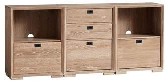 Pottery Barn Teen Callum Triple Wide Set, 2 One-Drawer + 1 Three-Drawer + Feet, Smoked Gray