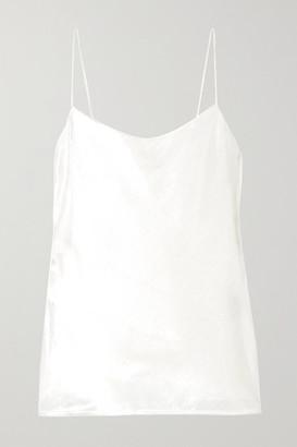 Michael Lo Sordo Metallic Velvet Camisole - White