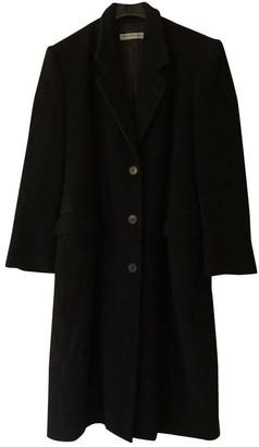 Emporio Armani Black Wool Coat for Women Vintage