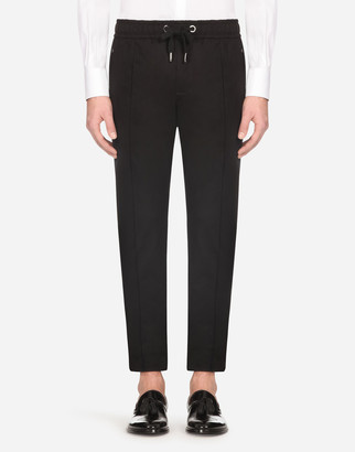 Dolce & Gabbana Stretch Cotton Jogging Pants With Plate