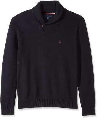 Tommy Hilfiger Men's Big and Tall Sweater with Shawl Collar