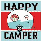Thirstystone Happy Camper - Blue Coaster Set of 4