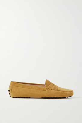 Tod's Gommino Suede Loafers - Mustard