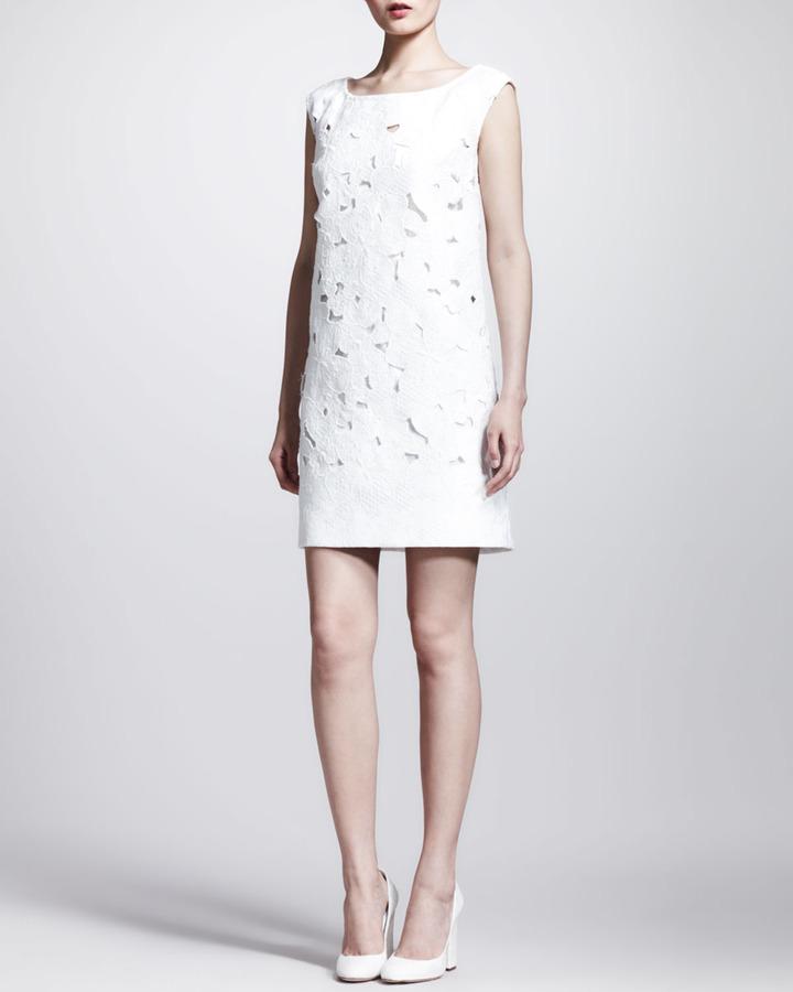 Dolce & Gabbana Cap-Sleeve Brocade Lace Minidress