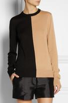 Michael Kors Two-tone merino wool sweater