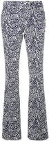 Pt01 flared Beth trousers - women - Cotton/Spandex/Elastane - 40