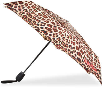 ShedRain WindPro Flatwear Vented Automatic Open/Close Compact Leopard Print Umbrella