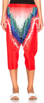 Baja East Tie Dye Print Satin Trousers