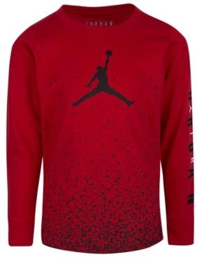 Jordan Little Boys Ombre Speckle Logo Long Sleeve T-Shirt