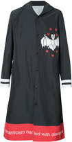 Undercover bat print hooded coat