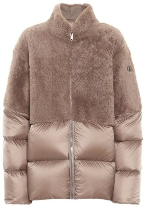 Rick Owens x Moncler Coyote shearling down coat