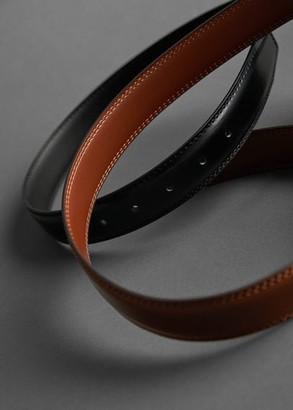 MANGO MAN - Leather belt brown - M - Men