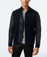 INC International Concepts Men's Mixed Media Sweater-Jacket, Only at Macy's