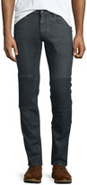 Belstaff Blackrod Slim-Stretch Jeans W/Knee Panels, Charcoal