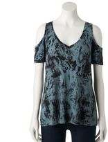 Rock & Republic Women's Cold-Shoulder Tee