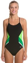 Nike Swim Poly Team Splice Cut Out Tank One Piece Swimsuit 8114708