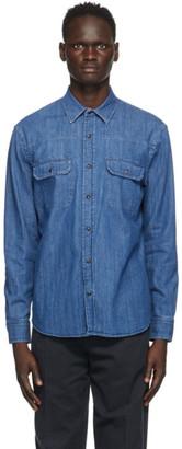 Ermenegildo Zegna Blue Denim Shirt