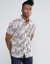 Pepe Jeans Short Sleeve Printed Tropical Shirt