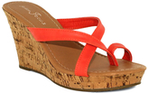Fashion Focus Coral Alicia Toe-Strap Wedge Sandal