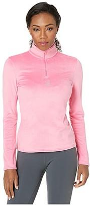 Spyder Shimmer Bug Zip T-Neck (Bryte Bubblegum) Women's Sweater