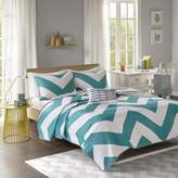 Bed Bath & Beyond Libra Reversible Chevron Twin Quilt Set in Blue/White