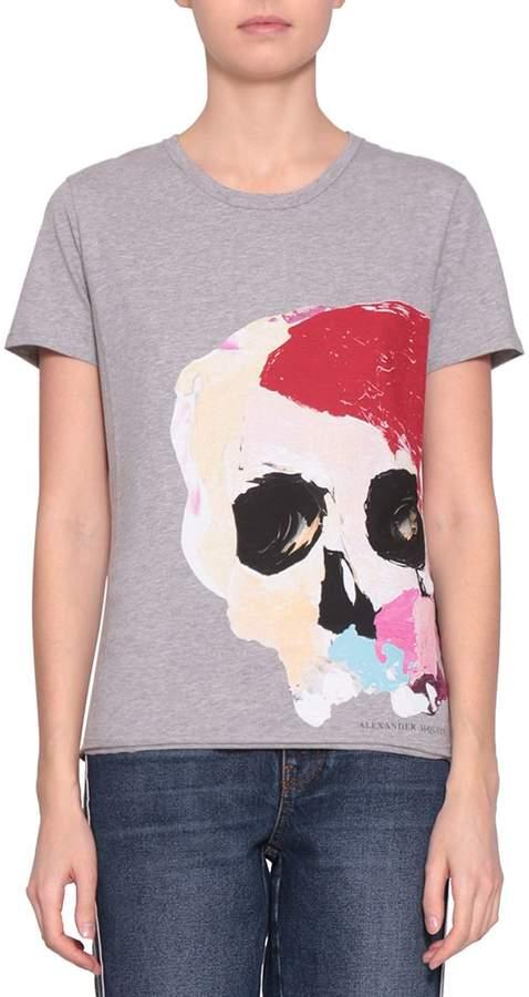 Alexander McQueen Skull Cotton T-shirt