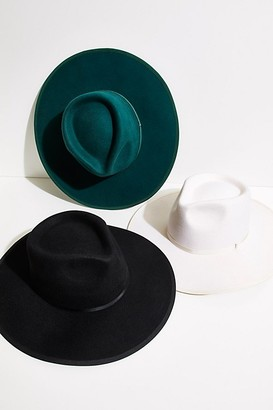 Free People Lucia Wide Brim Felt Hat