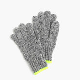 J.Crew Kids' speckled Donegal wool gloves