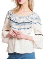 Plenty by Tracy Reese Embroidered Cotton Top