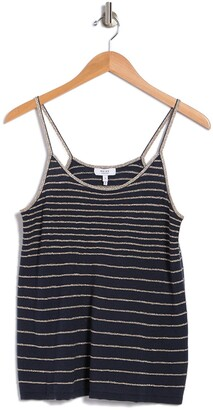 Reiss Maddy Striped Metallic Knit Camisole