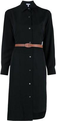 Loewe Anagram jacquard silk shirt dress