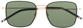 Thom Browne Eyewear TBS117 oversized squared aviator sunglasses