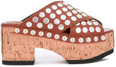 McQ by Alexander McQueen 'Paloma' studded clogs - women - Cork/Leather/metal/rubber - 35