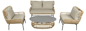 Bayou Breeze Bloomsdale Courtyard Casual Complete Patio Set with Cushions