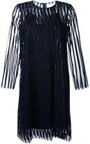 Gianluca Capannolo striped sheer longsleeved dress