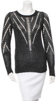 Tess Giberson Metallic Rib Knit Sweater w/ Tags