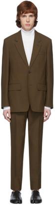 Maison Margiela Brown Wool Poplin Suit