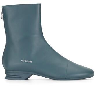 Raf Simons Logo-Print 30mm Ankle Boots