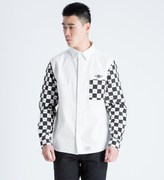 FUCT SSDD White/Black Checker Flag L/S Shirt