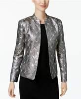Kasper Metallic Jacquard Jacket, Regular & Petite