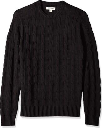 Goodthreads Amazon Brand Men's Soft Cotton Cable Stitch Crewneck Sweater